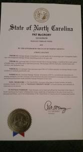 NC Proclamation